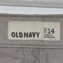 Old Navy Women's Tan Brown Linen Cotton Faux Cargo Carpi Cropped Pants Size 14 image 4
