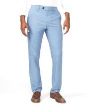 Tommy Hilfiger Men's Clyde Tailored-Fit Pants Blue Size 30W*32L - $34.64