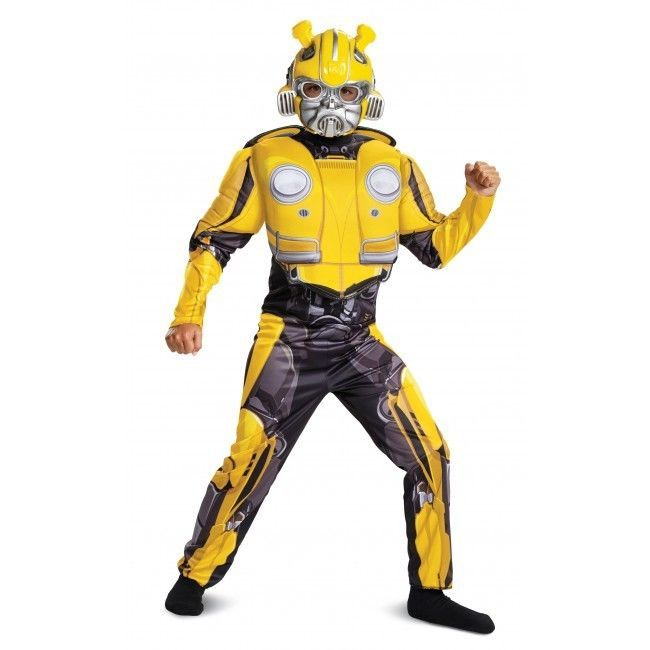 Disguise Transformer Bumblebee Classic Muscle Child Boys Halloween Costume 67655