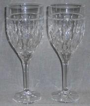 Set (2) Ralph Lauren ASTON PATTERN 16 oz Crystal WATER GOBLETS Made in G... - $31.67