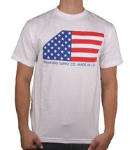 Diamond Supply Co. Black or White USA Made American Flag Stars Stripes T-shirt