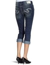 NEW SILVER Jeans Sale Dark Mid Rise Suki Cropped Capri Stretch Jean 26 x 26 - $24.97