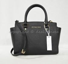 NWT Michael Kors Medium Selma Saffiano Leather Satchel/Shoulder Bag in B... - $239.00