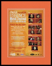 2005 Coca Cola Essence Music Festival Framed 11x14 ORIGINAL Advertisement - $32.36