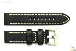 26mm Black Smooth Leather Watch Band Strap w/Stitches Fits Luminox Anti-... - $40.80