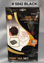 QFITT MAKE YOUR OWN PONY TAIL PONY TAIL NET # 5042 BLACK DIY