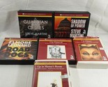 Lot Of 6 Audiobooks On CD Steve Martini & Elmore Leonard Cat Chaser Shadow Of...