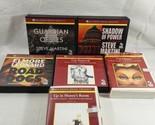 Lot Of 6 Audiobooks On CD Steve Martini & Elmore Leonard Cat Chaser Shadow Of...