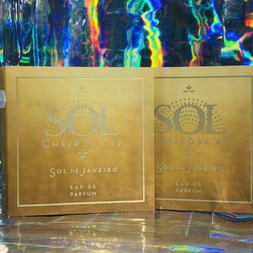 2x SOL DE JANEIRO CHEIROSA 62 Eau De Perfume Carded Vials Smells Like BUM BUM