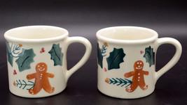 "Hartstone Gingerbread Men * 2 MUGS / CUPS * Christmas, 3 5/8"" 16oz, One/... - $19.99"