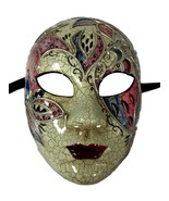 Angelica Full Face Lady Venetian Mask Masquerade Pink Blue White - $21.99