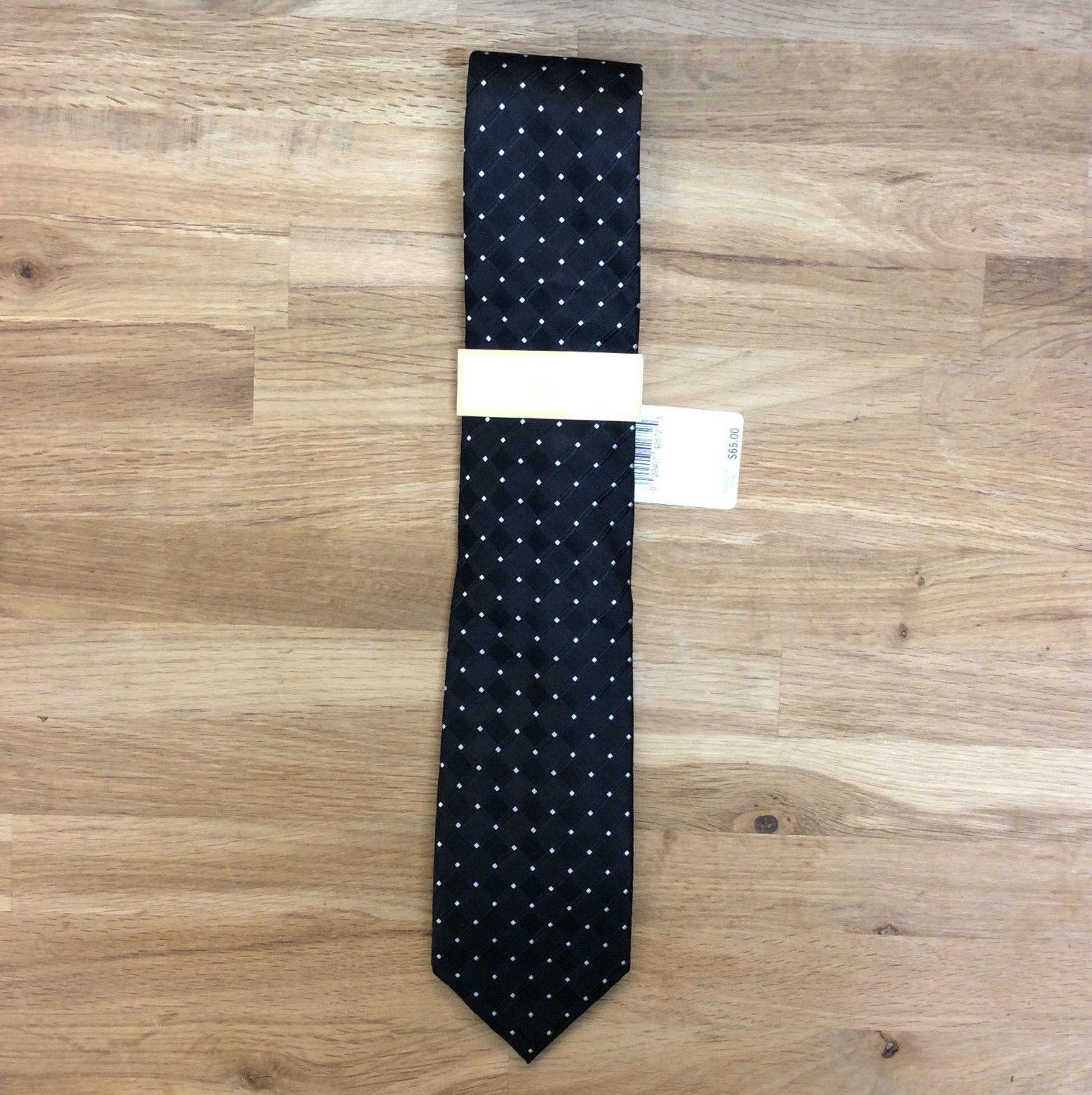 $65.00 Michael Kors NEW Checkerboard Plaid Mens Casual Silk Necktie