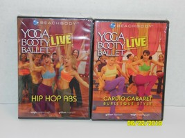 Yoga Booty Ballet Live Hip Hop Abs & Cardio Cabaret Burlesque Style DVD Lot - $12.56