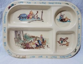 "Classic Pooh Time For A Little Something Divided Plate Tray 11""x 8"" Sela... - $15.79"