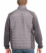 Orvis Men's Charcoal Gray Mixed Media Zipper Quilted Jacket Size Large NWT image 3