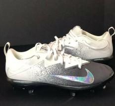 Nike BSBL Vapor Metal Cleats - Lunarlon Mens Size US 11.5 NEW! White black - $27.61