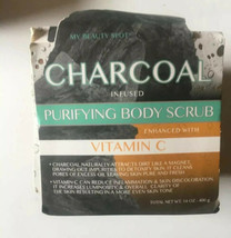 My Beauty Spot Charcoal Infused Purifying Body Scrub With Vitamin C  14o... - $18.31