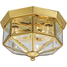 Progress Lighting P5788-10 Octagonal Close-To-Ceiling Fixture with Clear... - €54,56 EUR