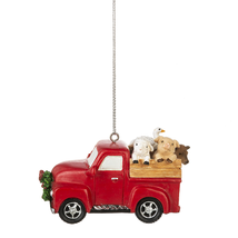 Red Truck /Farm Animals Ornament - $14.95