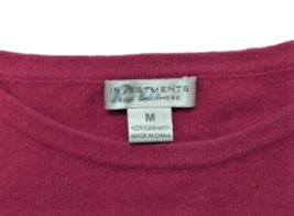 Investments 100% Fine Cashmere Ladies Sweater, Boatneck, 3/4 Length Sleeves, Med image 4