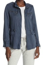 NWT - $110 Max Jeans Blue Zip Utility Jacket Size M - $39.59
