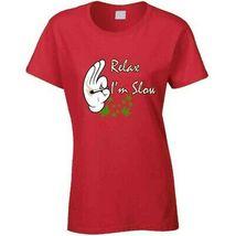 Relax I'm  Slow 420 Canna Ladies T Shirt image 9