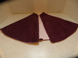 Purple corduroy, and pink lined cape for your d... - $9.99