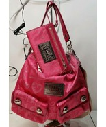 Coach Poppy Story Patch Swing 15304 Jacquard Leather Shoulder Purse Pink - $108.90