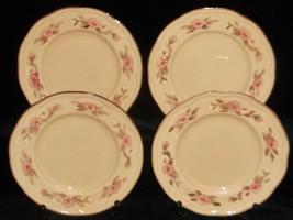 Set (4) Franciscan Embossed ROSETTE PATTERN Salad Plates MADE IN USA - $23.75