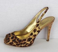 Guess by Marciano Merri women's open toe scrappy animal print stilettos size 7.5 - $20.20