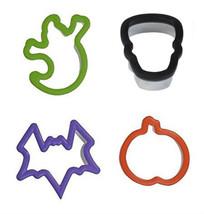 Halloween Grippy Bagged Set 4 pc Cookie Cutters Ghost Pumpkin Bat Skull - $6.64