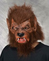 Werewolf Mask Wolfman Wolf Fangs Scary Frightening Halloween Costume M3006 - $83.51 CAD