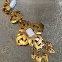Authentique Chanel Plaqué or cc Logos Charme Vintage Chaîne Pendentif CN0036 - $1,289.12