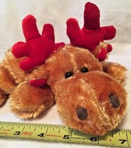 Dan Dees Collectors Choice Sparkly Plush Reindeer With Red Scarf New WOT - $5.94