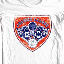 Justice League T-shirt Free Shipping cotton white tee superhero DC comics DCO526 image 1