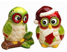 Christmas Owl  Salt & Pepper Shaker - $16.04