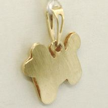 Yellow Gold Pendant 750 18K, Dog, Finely Knit Made in Italy image 4