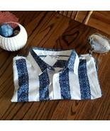 Fashion Nova Men 3XL White Blue  Long Sleeve Button Down Shirt~NWT - $27.48