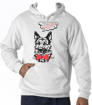 GERMAN SHEPHERD ALL YOU NEED - NEW COTTON WHITE HOODIE - $38.78