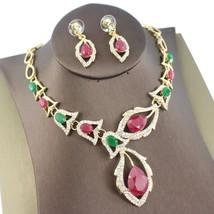 Jiayijiaduo African Beads Jewellery Sets Black Crystal Wedding Necklace ... - $14.26