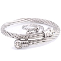 Fashion Newest Adjustable Bracelet and Ring For Women Stainless Steel Crystal Ch - $13.13