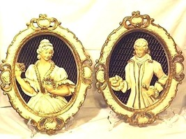 Plaques Ceramic Victorian His and Her  AA18-1328 Vintage image 2