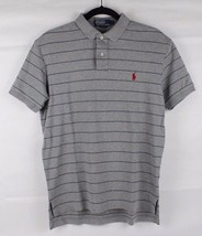 POLO by Ralph Lauren men's sport polo shirt cotton gray striped classic ... - $15.71
