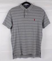 POLO by Ralph Lauren men's sport polo shirt cotton gray striped classic ... - $15.71