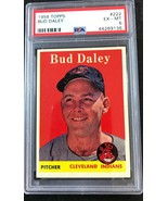 1958 TOPPS #222 BUD DALEY PSA 6 EX-MT Cleveland Indians  - $14.80