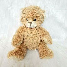 "10"" Pouchey Toys Bear Tan Plush Sitting Stuffed Animal Toy Sewn Face Lov... - $16.97"