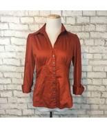 Banana Republic Women's UT Austin Burnt Orange V-Neck Button Front Shirt... - $14.39