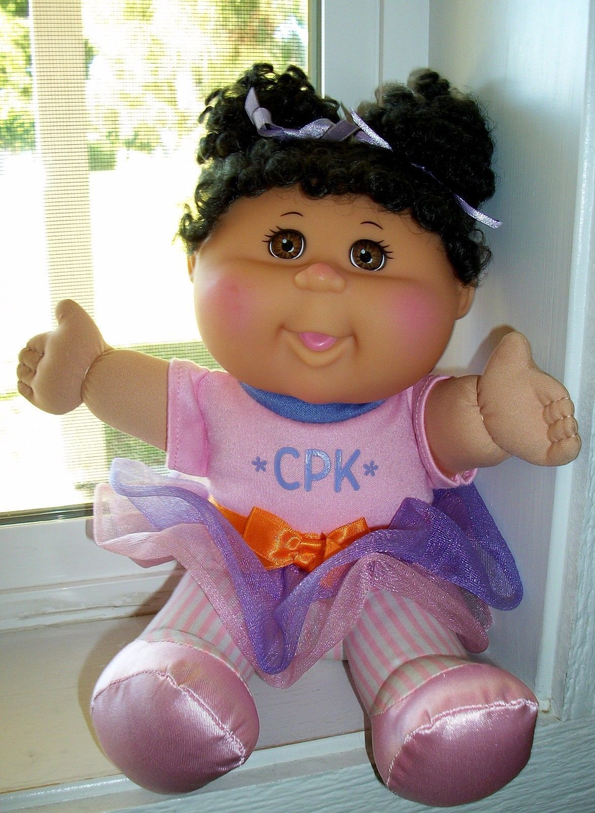 Cabbage Patch Kids Doll Dark Curly Hair and 1 similar items