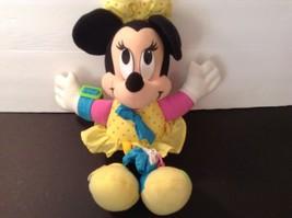 "DISNEY DRESS ME Minnie Mouse Plush Doll 14"" Tall CUTE 1992 Vintage - $8.63"
