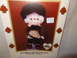 Pecan Pie Doll Pattern Cupcake Corner Dumplin Designs Crochet 1985 UP10 - $9.99